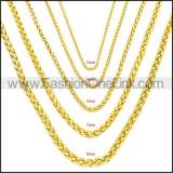 Stainless Steel Chain Neckalce n003095GW4