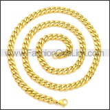 Stainless Steel Chain Neckalce n003118G1