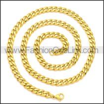 Stainless Steel Chain Neckalce n003118G1
