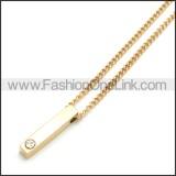 Stainless Steel Chain Neckalce n003110G
