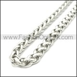 Stainless Steel Chain Neckalce n003095SW5