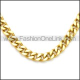 Stainless Steel Chain Neckalce n003115G