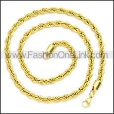 Stainless Steel Chain Neckalce n003097GW3