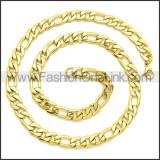 Stainless Steel Chain Neckalce n003093GW5