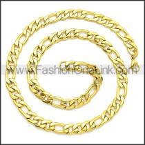 Stainless Steel Chain Neckalce n003093GW3