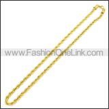 Stainless Steel Chain Neckalce n003096GW2