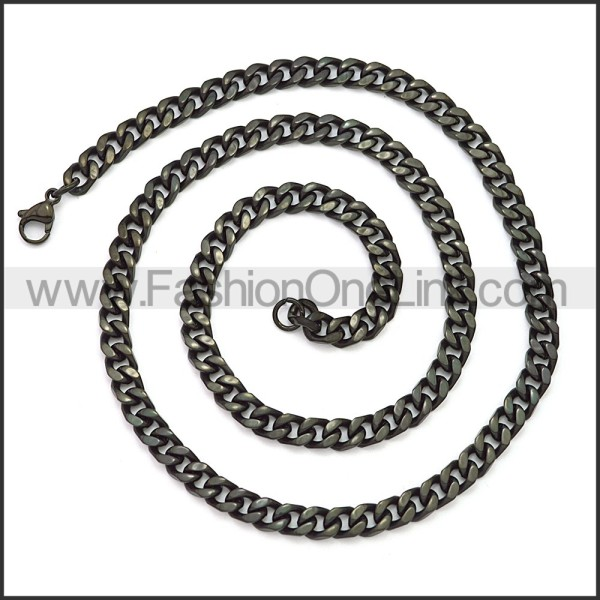 Stainless Steel Chain Neckalce n003116H