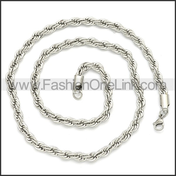 Stainless Steel Chain Neckalce n003096SW4