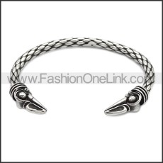 Stainless Steel Raven Bangle for Women b009817