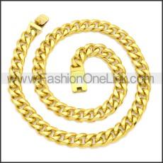 Stainless Steel Chain Neckalce n003123G