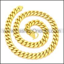 Stainless Steel Chain Neckalce n003133G4