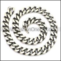Stainless Steel Chain Neckalce n003135SH