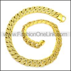 Stainless Steel Chain Neckalce n003126GW13