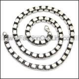 Stainless Steel Chain Neckalce n003150SA2