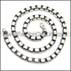 Stainless Steel Chain Neckalce n003150SA3