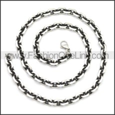 Stainless Steel Chain Neckalce n003146SA3