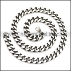 Stainless Steel Chain Neckalce n003144SA2