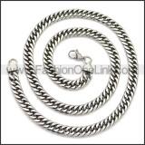 Stainless Steel Chain Neckalce n003149SA4