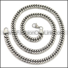 Stainless Steel Chain Neckalce n003149SA2