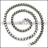 Stainless Steel Chain Neckalce n003151S4