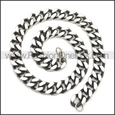 Stainless Steel Chain Neckalce n003148SA2