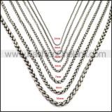 Stainless Steel Chain Neckalce n003143SA5