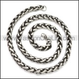 Stainless Steel Chain Neckalce n003143SA1