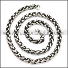 Stainless Steel Chain Neckalce n003143SA3