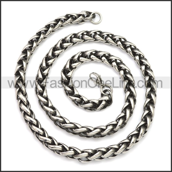 Stainless Steel Chain Neckalce n003143SA4