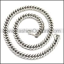 Stainless Steel Chain Neckalce n003142SA2