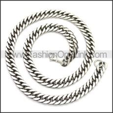 Stainless Steel Chain Neckalce n003142SA3