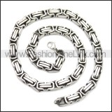 Stainless Steel Chain Neckalce n003147SA4