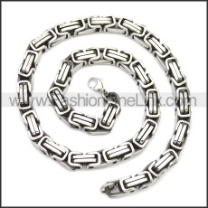 Stainless Steel Chain Neckalce n003147SA1