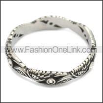 Stainless Steel Ring r008607SH1