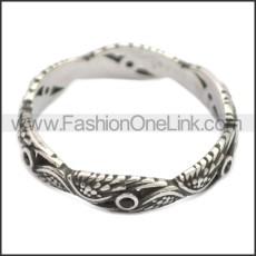 Stainless Steel Ring r008607SH3