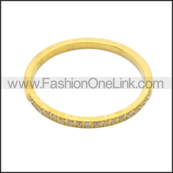 Stainless Steel Ring r008725G
