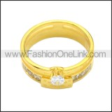 Stainless Steel Ring r008726G