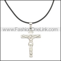 Rubber Necklace W Stainless Steel Clasp n003181HS