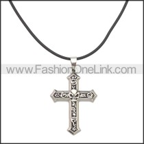 Rubber Necklace W Stainless Steel Clasp n003179HS1