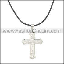 Rubber Necklace W Stainless Steel Clasp n003179HS2