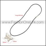 Rubber Necklace W Stainless Steel Clasp n003183HS