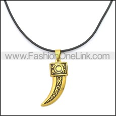 Rubber Necklace W Stainless Steel Clasp n003175HG1