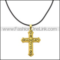 Rubber Necklace W Stainless Steel Clasp n003179HG1