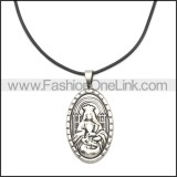 Rubber Necklace W Stainless Steel Clasp n003174HS2