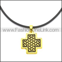 Rubber Necklace W Stainless Steel Clasp n003185HG