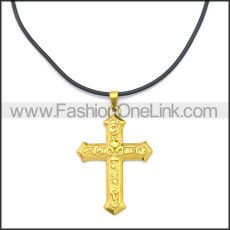 Rubber Necklace W Stainless Steel Clasp n003179HG2