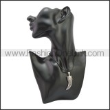 Rubber Necklace W Stainless Steel Clasp n003175HS1