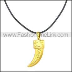 Rubber Necklace W Stainless Steel Clasp n003175HG2