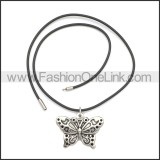 Rubber Necklace W Stainless Steel Clasp n003183HA