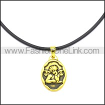 Rubber Necklace W Stainless Steel Clasp n003184HG